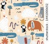 seamless childish pattern with... | Shutterstock .eps vector #1441000652