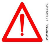 warning sign flat design icon.... | Shutterstock .eps vector #1441013198