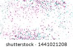 colorful confetti on isolated... | Shutterstock .eps vector #1441021208