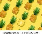 pineapple seamless pattern...   Shutterstock .eps vector #1441027025