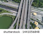 aerial view intersection coty...   Shutterstock . vector #1441056848