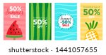 summer sales banners   can be... | Shutterstock .eps vector #1441057655