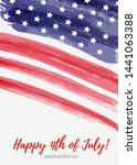 usa happy 4th of july...   Shutterstock .eps vector #1441063388