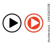 play button icon in trendy flat ...   Shutterstock .eps vector #1441065338