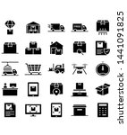logistic icons vector symbol... | Shutterstock .eps vector #1441091825