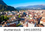 Bolzano aerial panoramic view. Bolzano is the capital city of the South Tyrol province in northern Italy.