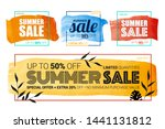 summer sale banner layout... | Shutterstock .eps vector #1441131812