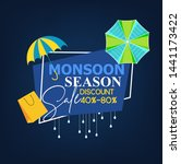 monsoon season sale with... | Shutterstock .eps vector #1441173422