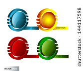 abstract 3d logos | Shutterstock .eps vector #144117598
