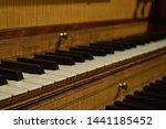 Keys Of An Old Wooden Piano