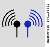 wifi vector stroke icon set