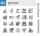 set of battery icons such as... | Shutterstock .eps vector #1441227128