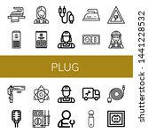 set of plug icons such as iron  ... | Shutterstock .eps vector #1441228532