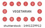 set of vegetarian icons such as ... | Shutterstock .eps vector #1441229912