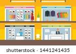mall concept background. flat... | Shutterstock .eps vector #1441241435