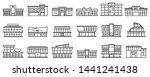 mall centre icons set. outline... | Shutterstock .eps vector #1441241438