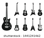 Electric Guitar Icons Set....