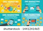 business sms marketing banner...   Shutterstock .eps vector #1441241465