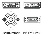 car audio speaker icons set.... | Shutterstock .eps vector #1441241498