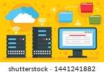 hosting concept background.... | Shutterstock .eps vector #1441241882