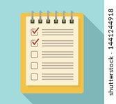 notebook checklist icon. flat...