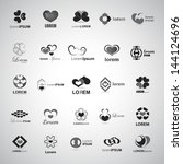 heart icons set   isolated on... | Shutterstock .eps vector #144124696