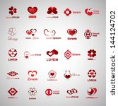 heart icons set   isolated on... | Shutterstock .eps vector #144124702