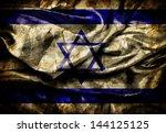 Dirty Flag Of Israel On Silk...