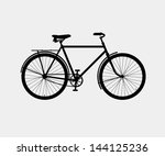 silhouette of a classic bike | Shutterstock .eps vector #144125236