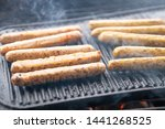 cooking sausages on the... | Shutterstock . vector #1441268525