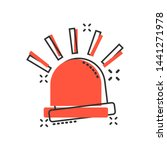 emergency siren icon in comic...   Shutterstock .eps vector #1441271978