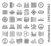 fabric feature icons set.... | Shutterstock .eps vector #1441293062