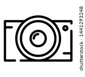 4k action camera icon. outline... | Shutterstock .eps vector #1441293248