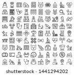 veterinarian icons set. outline ... | Shutterstock .eps vector #1441294202