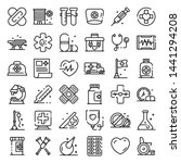 first medical aid icons set.... | Shutterstock .eps vector #1441294208