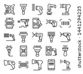 barcode scanner icons set.... | Shutterstock .eps vector #1441294235