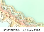 abstract paper art sea or ocean ... | Shutterstock . vector #1441295465