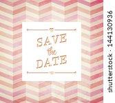 vector illustration. wedding... | Shutterstock .eps vector #144130936