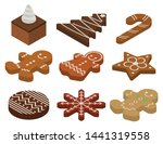 gingerbread icons set.... | Shutterstock .eps vector #1441319558
