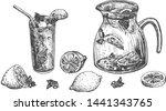 vector illustration of lemons... | Shutterstock .eps vector #1441343765