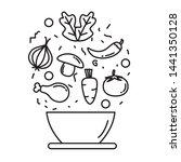 food ingredients mixing on a... | Shutterstock .eps vector #1441350128