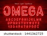 neon light 3d alphabet  extra... | Shutterstock .eps vector #1441362725