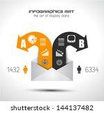 infographic elements   set of... | Shutterstock .eps vector #144137482