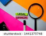 legal opinion text on sticky... | Shutterstock . vector #1441375748