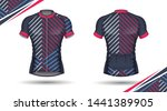 cycling jersey  front and back  | Shutterstock .eps vector #1441389905