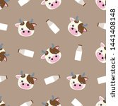 childish seamless pattern... | Shutterstock .eps vector #1441408148