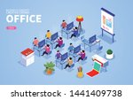 office work crowd and office... | Shutterstock .eps vector #1441409738