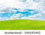 background of sky and grass   Shutterstock . vector #144141442