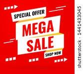 promotion sale banner template... | Shutterstock .eps vector #1441433045