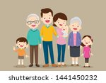 big family together. group of... | Shutterstock .eps vector #1441450232
